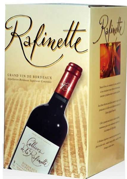 BIB (Bag in Box) Bordeaux Supérieur Rouge AOC Celliers de la Rafinette 10 liter